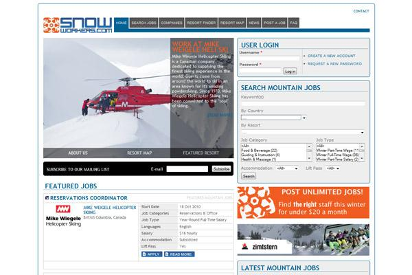 Snowworkers home page